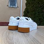 Женские кожаные кроссовки Puma Cali Bold (бело-бежевые) 20023, фото 9