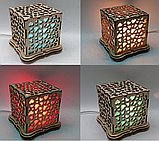"""Соляной светильник деревянный куб """"Сердца"""", фото 5"""