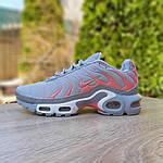 Женские кроссовки Nike TN Plus РЕФЛЕКТИВ (серые) 20025, фото 8