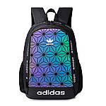 Спортивний рюкзак Adidas XENO Reflectiv (чорний) - РЕФЛЕКТИВ #Adidas, фото 4