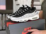 Мужские кроссовки Nike 95 (серебряно-черные) 9145, фото 2