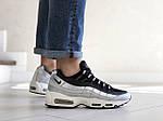Мужские кроссовки Nike 95 (серебряно-черные) 9145, фото 3