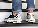 Мужские кроссовки Nike 95 (серебряно-черные) 9145, фото 4