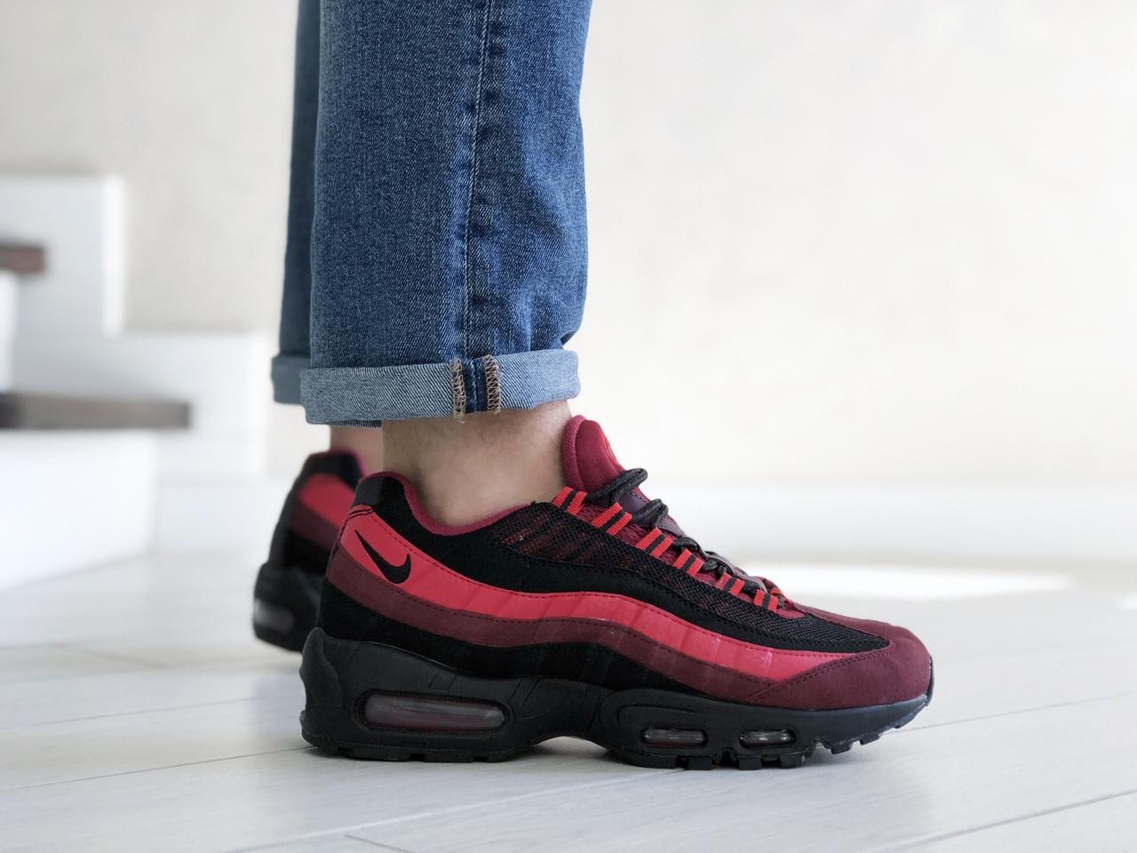 Чоловічі кросівки Nike 95 (чорно-бордові) 9147