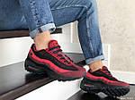 Чоловічі кросівки Nike 95 (чорно-бордові) 9147, фото 3