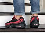 Чоловічі кросівки Nike 95 (чорно-бордові) 9147, фото 4