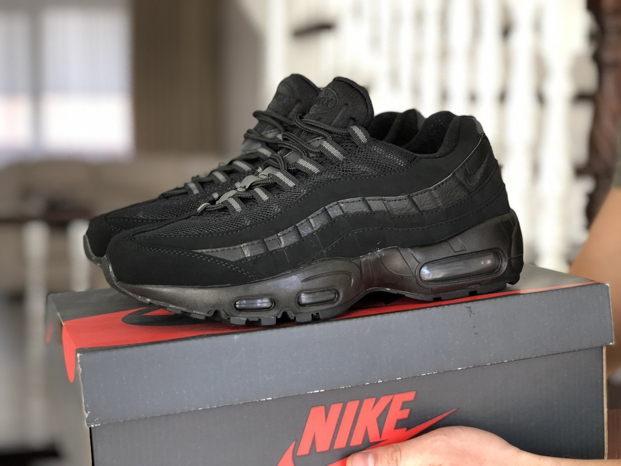 Мужские кроссовки Nike 95 (черные) 9149
