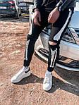 Мужские зауженные джинсы-скелеты (черные) - Турция (B5128), фото 2