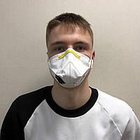 Респиратор маска 3М FFP1 c клапаном белый (защита класса ФФП1 k111)
