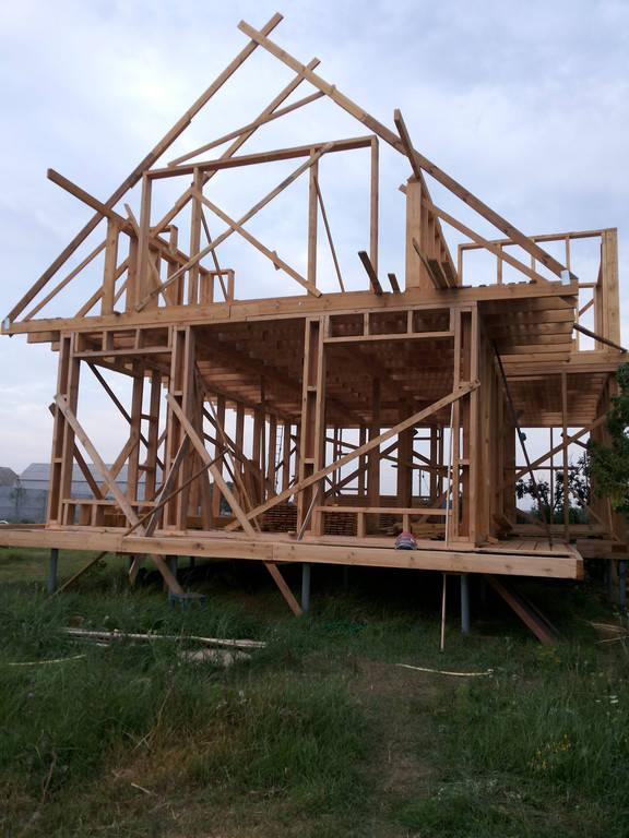 Устройство фундамента на винтовых сваях под каркасный деревянный дом.