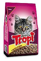 Сухой корм для кошек TROPI с курицей 10 кг