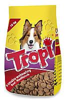 Сухой корм для собак TROPI с говядиной 10 кг