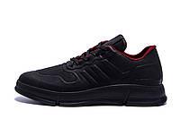 Мужские кожаные кроссовки YAVGOR Black(реплика)