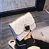 Белая прошита сумочка через плечо, фото 2