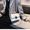 Белая прошита сумочка через плечо, фото 9