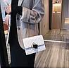 Белая прошита сумочка через плечо, фото 8
