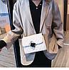 Белая прошита сумочка через плечо, фото 10