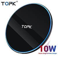 Безпровідний оригінальний зарядний пристрій TOPK швидка зарядка 10W Чорний, фото 1