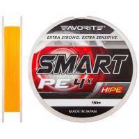 Шнур Favorite Smart PE 4x 150м (оранж.) #0.3/0.09мм 2.3кг (1693.10.42)