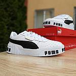 Женские кожаные кроссовки Puma Cali Bold (бело-черные) 20010, фото 2