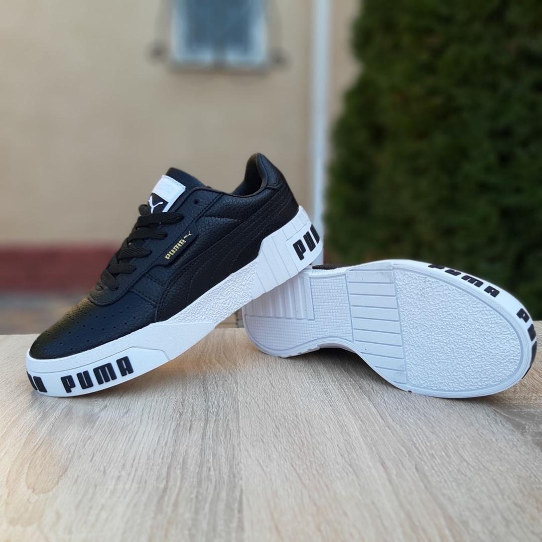 Жіночі шкіряні кросівки Puma Cali Bold (чорно-білі) 20024