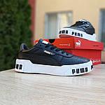 Женские кожаные кроссовки Puma Cali Bold (черно-белые) 20024, фото 3