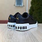 Женские кожаные кроссовки Puma Cali Bold (черно-белые) 20024, фото 5