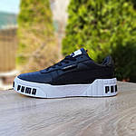 Женские кожаные кроссовки Puma Cali Bold (черно-белые) 20024, фото 6