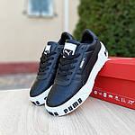 Женские кожаные кроссовки Puma Cali Bold (черно-белые) 20024, фото 9