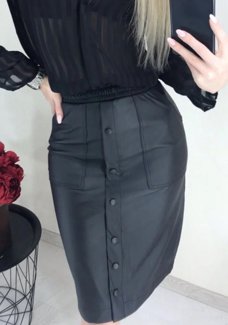 Модная юбка из кожзама Sharm