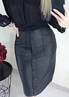 Модная юбка из кожзама Sharm, фото 1