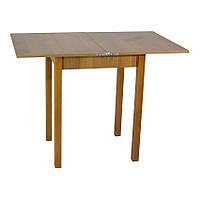 Стол кухонный раскладной Тавол Компакт ноги прямые дерево 50 см х 60 см х 75 см  Орех, фото 1
