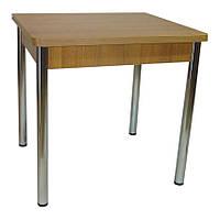 Стол обеденный раскладной Тавол Гранди 70 см х 80 см х 75 см ноги металл хром Орех, фото 1