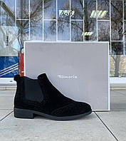 Женские ботинки челси Tamaris оригинал натуральная замша 38, фото 1