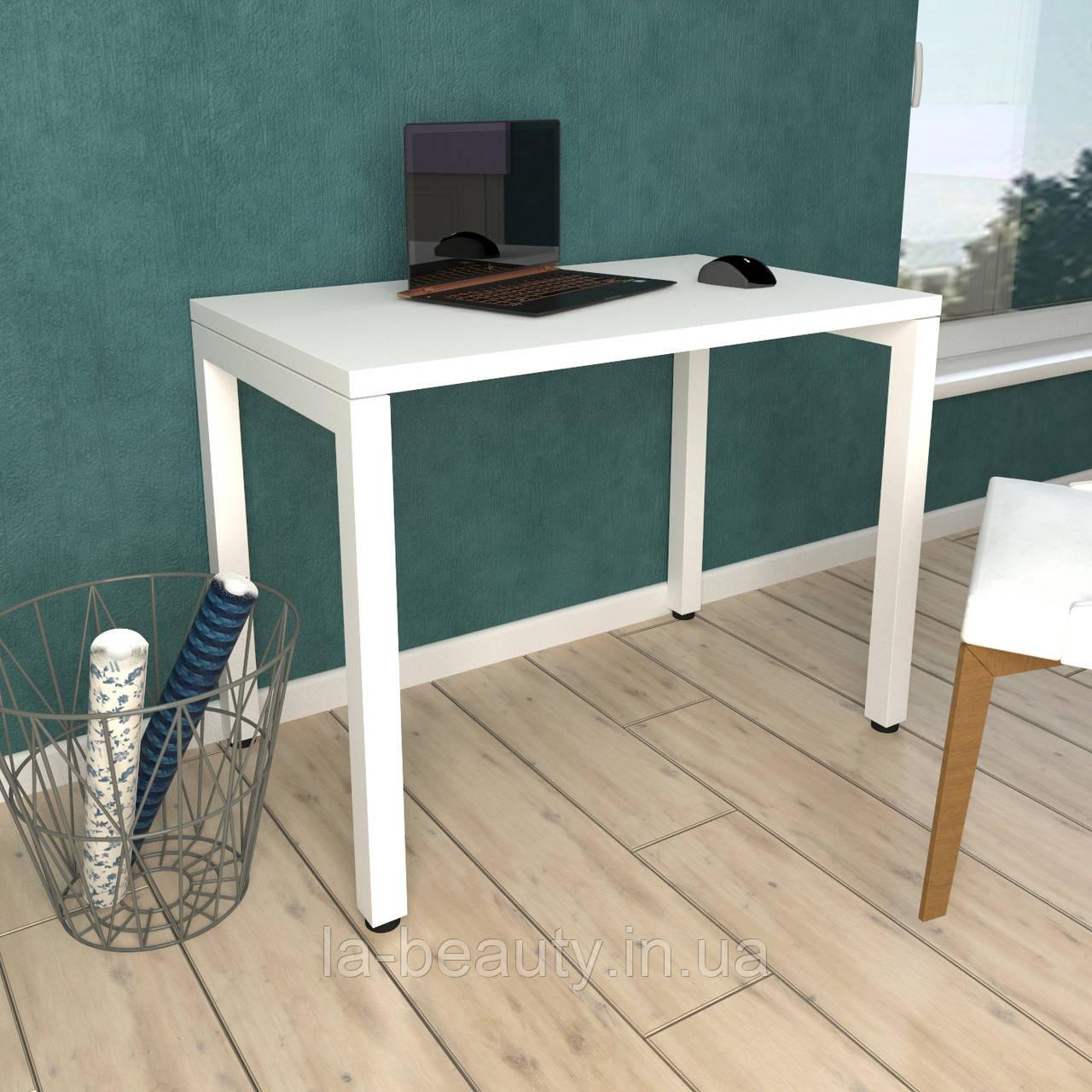 Стол Тавол КС 8.2 металл опоры белые 100смх60смх75см ДСП 32 мм Белый