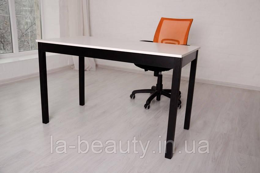 Стол Тавол Пиколо ножки натуральное дерево 120смх60смх75см Черно-Белый