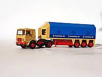 Herpa масштабная модель грузового автомобиля MAN Sattelzug для перевозки стекла, масштаба 1/87, H0