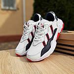 Мужские кожаные кроссовки Adidas OZWEEGO (бело-синие с красным) 10038, фото 9