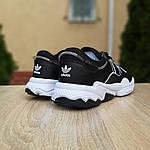 Чоловічі шкіряні кросівки Adidas OZWEEGO (чорно-білі) 10039, фото 4