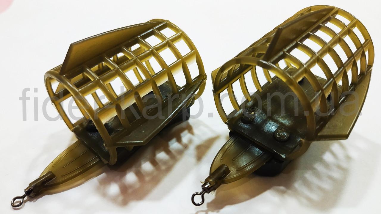 "Фидерная рыболовная кормушка ""Feeder Sport"" c грунто зацепами , вес 50 грамм"