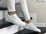 Женские кожаные кроссовки Nike Air Jordan 1 Low (белые) 9165, фото 4