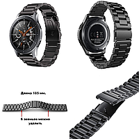 Стальной ремешок браслет для смарт-часов BeWatch для Samsung Galaxy Watch 46 мм Черный
