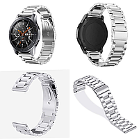 Ремешок браслет для смарт-часов BeWatch стальной для Samsung Galaxy Watch 46 мм Серебро