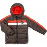 Куртка Verscon с оранжевой полосой (2663-116B-brown)
