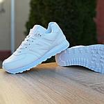 Женские кожаные кроссовки New Balance 574 (белые) 2970, фото 4