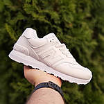 Жіночі шкіряні кросівки New Balance 574 (білі) 2970, фото 6