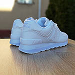 Женские кожаные кроссовки New Balance 574 (белые) 2970, фото 8
