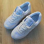 Жіночі шкіряні кросівки New Balance 574 (білі) 2969, фото 5
