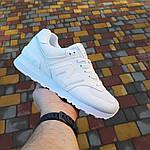 Жіночі шкіряні кросівки New Balance 574 (білі) 2969, фото 7