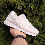 Жіночі шкіряні кросівки New Balance 574 (білі) 2969, фото 8
